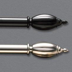 Metallic Finish Scroll Rods