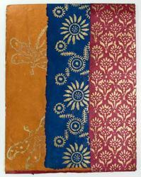 Block Printed Papers for Scrapbooking, Gift and Crafts