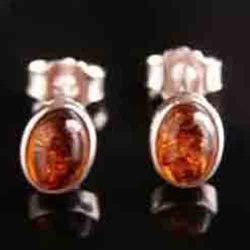Ambra Prigionieri Ovale Earrings