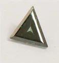 0.73 Ct Trillion Cut Blue Diamond Solitaire