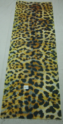Pure Silk Scarves With Leopard Digital Print