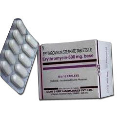 Erythromycin Stearate Tablets 250 mg. / 500 mg.