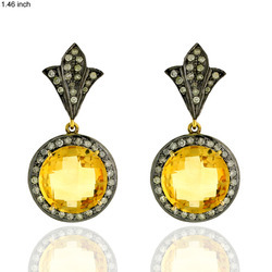 14k Gold Gemstone Earring Jewelry