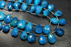 Apatite Blue Moonstone Rainbow Faceted Briolettes