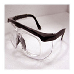 Safety Spectacle with Prescription Glass Attachment