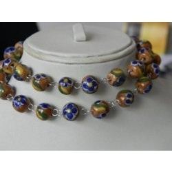 Blue Pottery Beads
