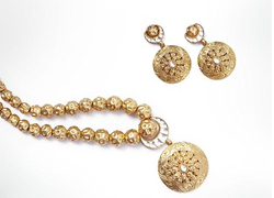 Eighteen K Plain And Studded Gold