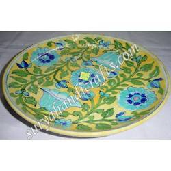Blue Pottery Costar Plate Square