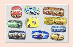 Multi-colored Millefiori Glass Beads
