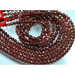 AAA--Red Garnet Micro Faceted Round