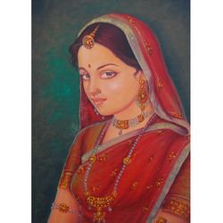 Beautiful Lady On Canvas