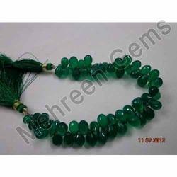 Green Onyx( Green Chalcedony) Teardrops