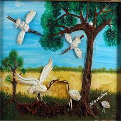 Playing Birds Canvas Paintings