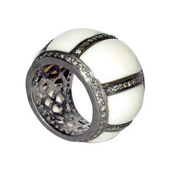 Designer diamond Bakelite Rings