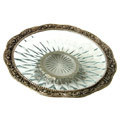 beauty at its best white metal bowl