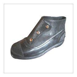 Button Gum Boot with Steel Toe