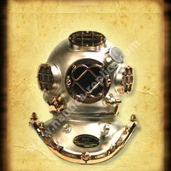 Diver Helmet Pewter Finish