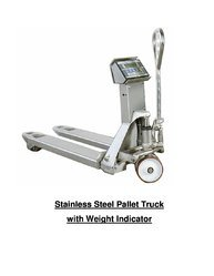 Stainless Steel Pallet Truck with Weight Indication