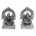 mehrab laxmi ganesha white metal god idols figures