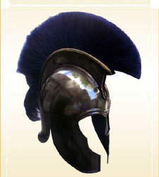 Armor Helmet Trojan Blue Plum