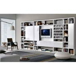 Hanging Bookcases Design With Rack LCD TV