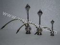 decorative hookah nickel plated