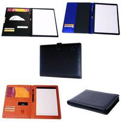 Leather Conference File Folders