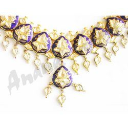 Kundan Meena Polki Necklace