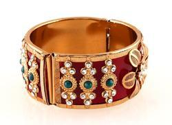 Green Stone Indian Bangle
