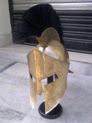 Armor Corinthian Helmet With Plume