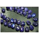 Purple Moonstone Rainbow Faceted Pear Briolettes