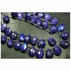 Purple Moonstone Rainbow Faceted Pear Briolettes