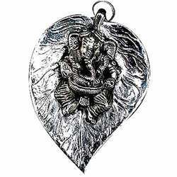 Lord Ganesha On Leaf (Small)