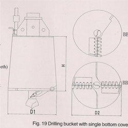 Drilling Bucket With Single Bottom Cover