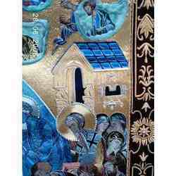 Handmade+Embroidered+Religious+Banner
