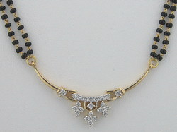 Avsar Real Gold and Diamond Fancy Marriage Mangalsutra