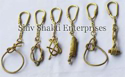 Nautical Brass Knots Key Chain Set