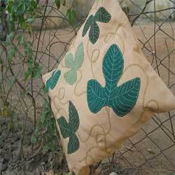 Leaf Applique Cushion Covers