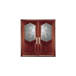 Engraved Wooden Front Doors