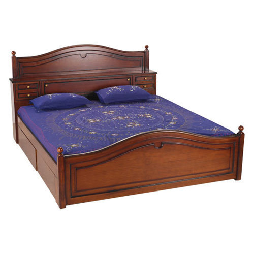 Double bed m m interior decor manufacturer in pune for Double cot designs