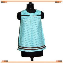 Sleeveless Length Short Kurti