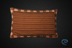 Designer Cushion Cover With Brown Stripes With Border