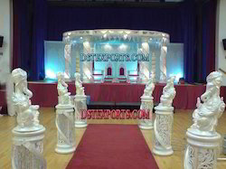 Wedding Fiber Crystal Six Pillar Mandap