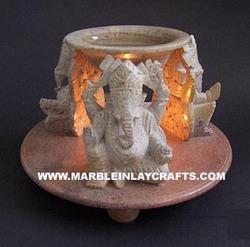 Soapstone Ganesha Oil Burner