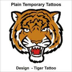 Tiger Temporary Tattoos