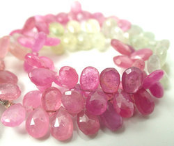 Pink Umba Sapphire Faceted Briolletes