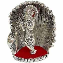 White Metal Seep Krishna Statue