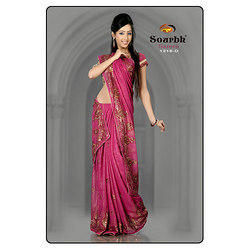 Velvet Bordered Saree