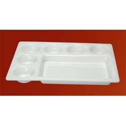 Acrylic Seven Compartment Plate