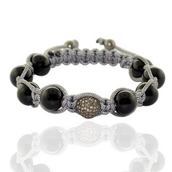 Wholesale Diamond Bead Macrame Bracelets